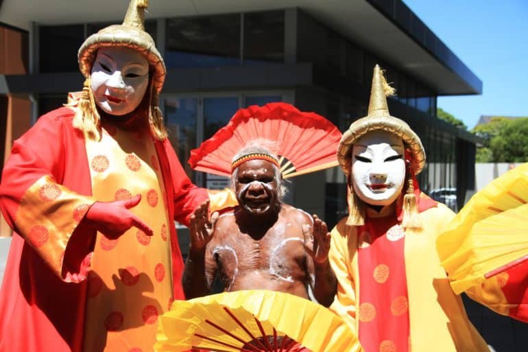 cultural performers at Civic's Hurstville Community Hub opening