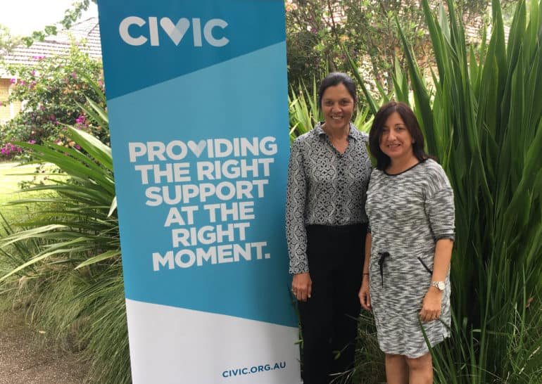 Chairperson Rapti Nethery with  Civic CEO Annie Doyle