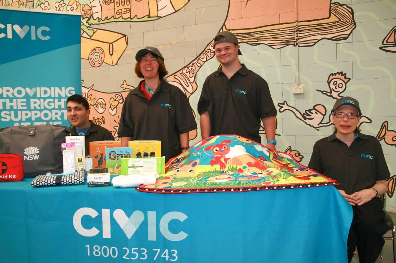Civic's Baby Bundle crew at a handout event.
