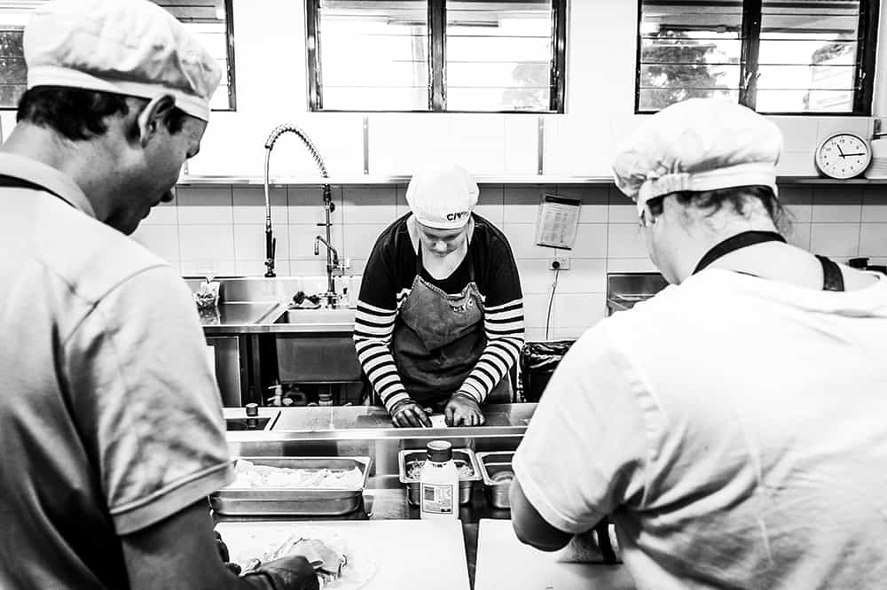 Civic Kitchen & Catering staff at work
