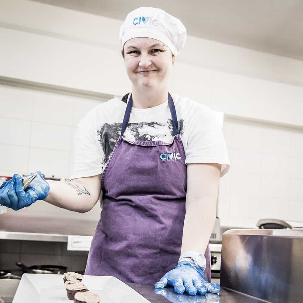 Civic Kitchen & Catering Caringbah female chef posing for a picture