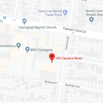 Map of Civic's Caringbah Office: 103 Cawarra Road Caringbah, NSW 2229