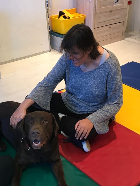Angie and her Therapy Dog