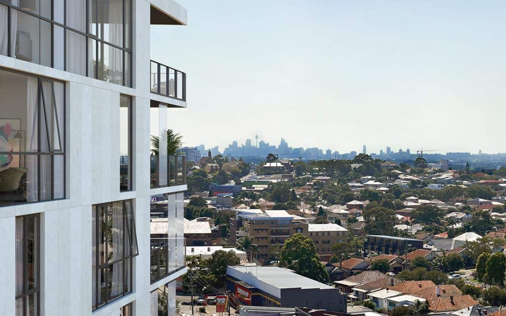 A look outside from a balcony at The View Apartments in Rockdale, Sydney