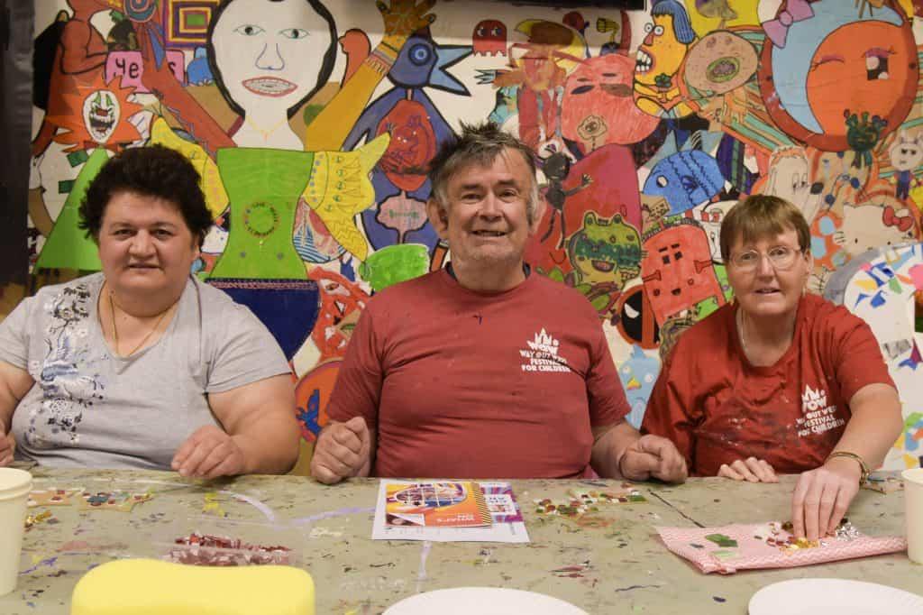 Participants at the Civic Art Show