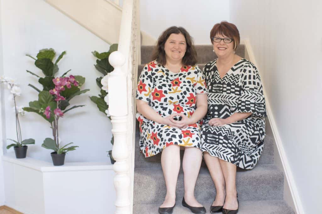 mum Narelle (right), with her daughter and Civic client, Lauren (left)