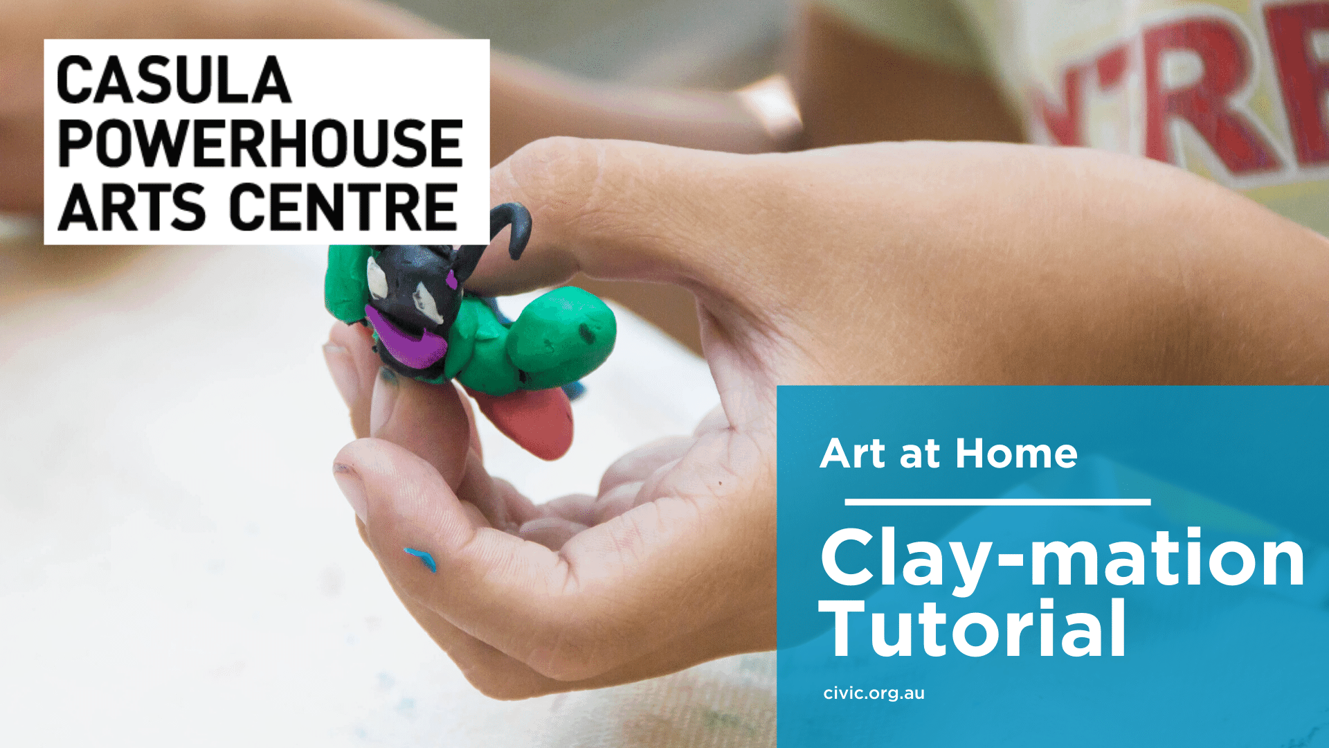 Clay animation home tutorial banner