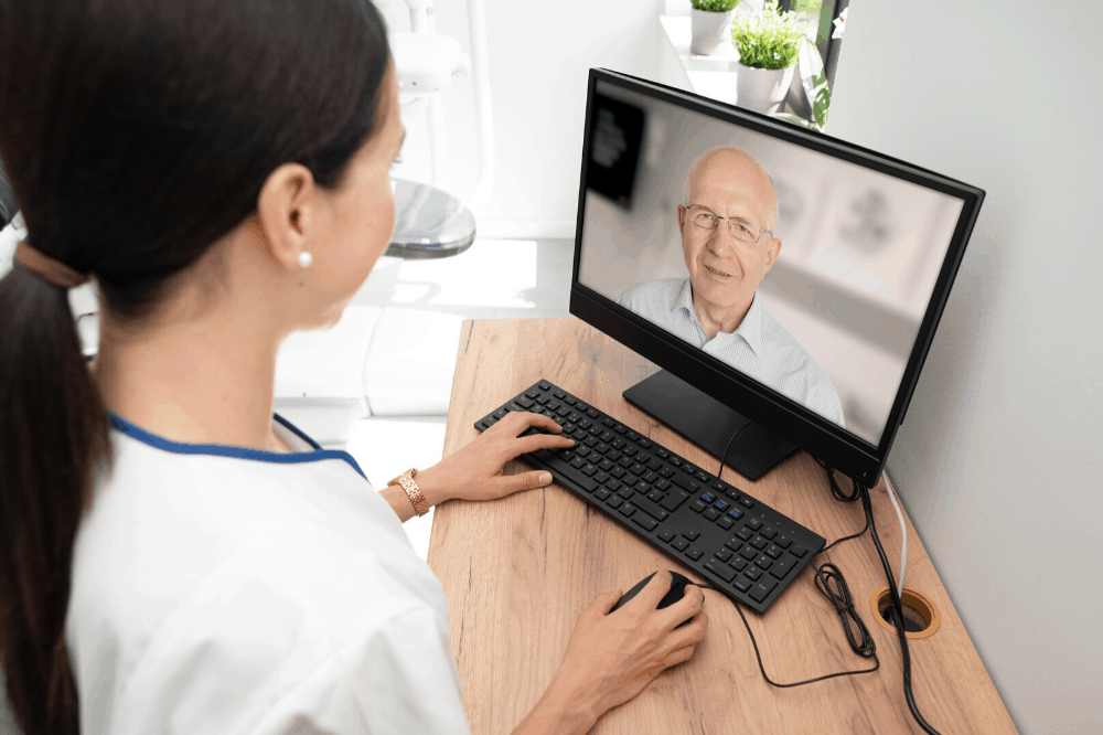 remote clinic consultation with client