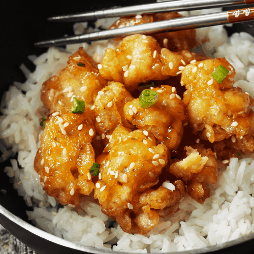 honey chicken stir fry with rice