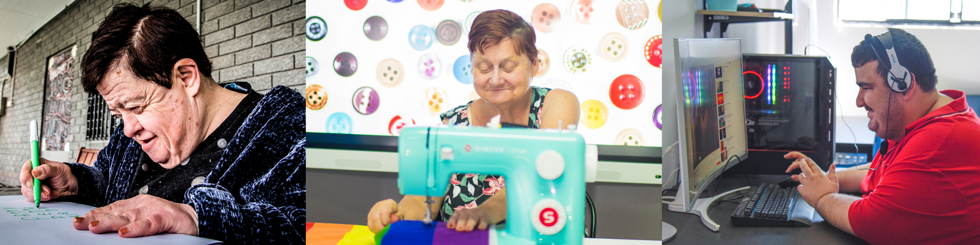 Civic disabled clients learning new skills