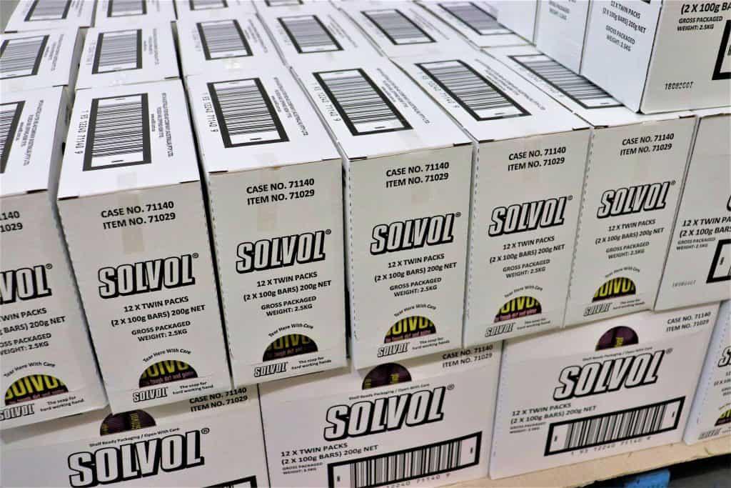 Solvol soap boxes