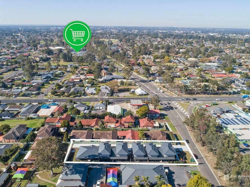 Aerial View of Emu Plains Penrith Civic Home Accommodation