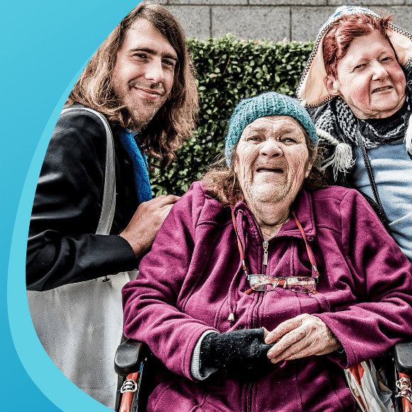 Civic aged care clients and crew