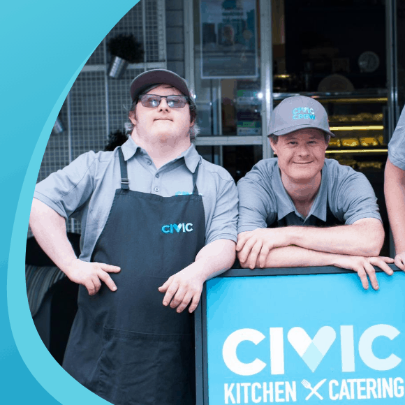 Civic Kitchen & Catering Crew in uniform